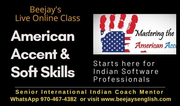 American Accent Training Online with International Coach Beejay