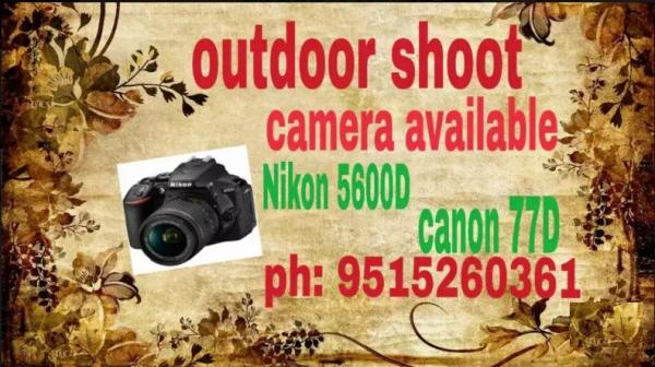 Nikon 5600D for camera rent available