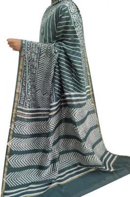 Ajrakh Sarees | Hand Printed Ajrakh Sarees | Luxurionworld